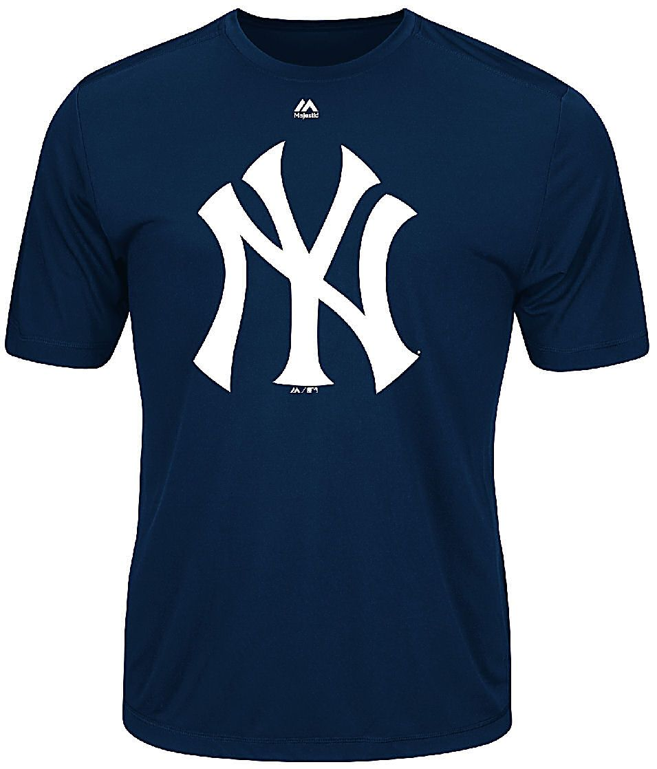 New York Yankees Majestic Synthetic Official Logo Short Sleeve Tee Shirt New York Yankees Apparel Short Sleeve Tee Shirts Yankees T Shirt [ 1118 x 955 Pixel ]