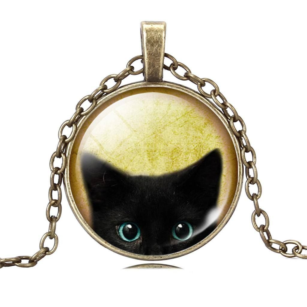 Round Cat Picture Necklace