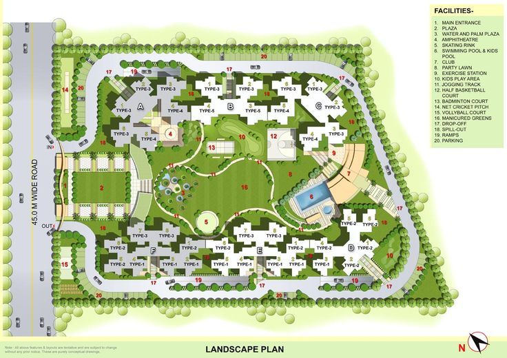Urban Design Landscape Plans Residential Complex Plan