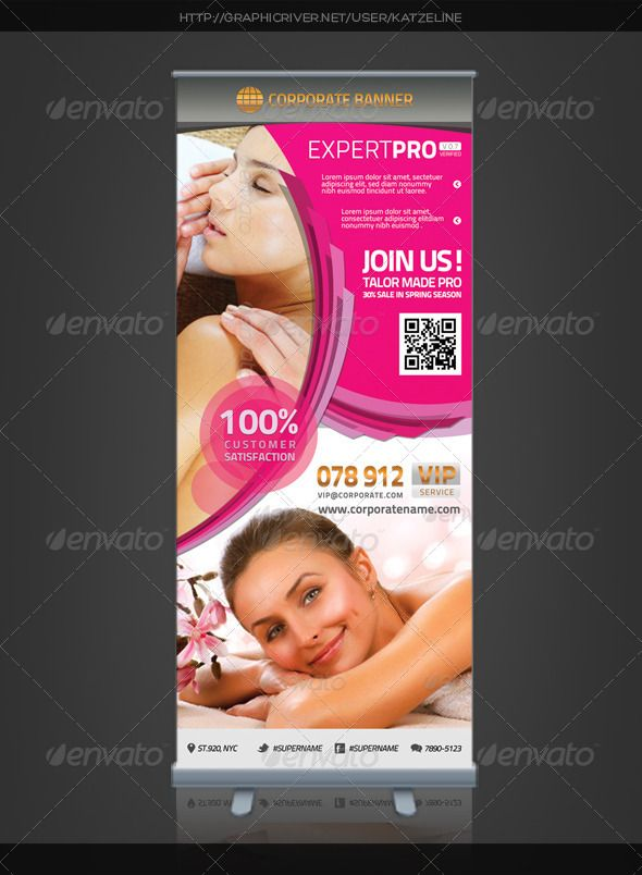 Corporate Roll Up Banner Expert Pro Banner Beauty Salon Hair Dresser