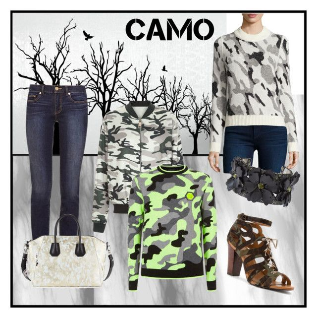"""""""Come in Camo /004"""" by yaschy ❤ liked on Polyvore featuring New Look, Veronica Beard, Tory Burch, Philipp Plein, Charles Jourdan, Klub Nico, Forest of Chintz and camostyle"""