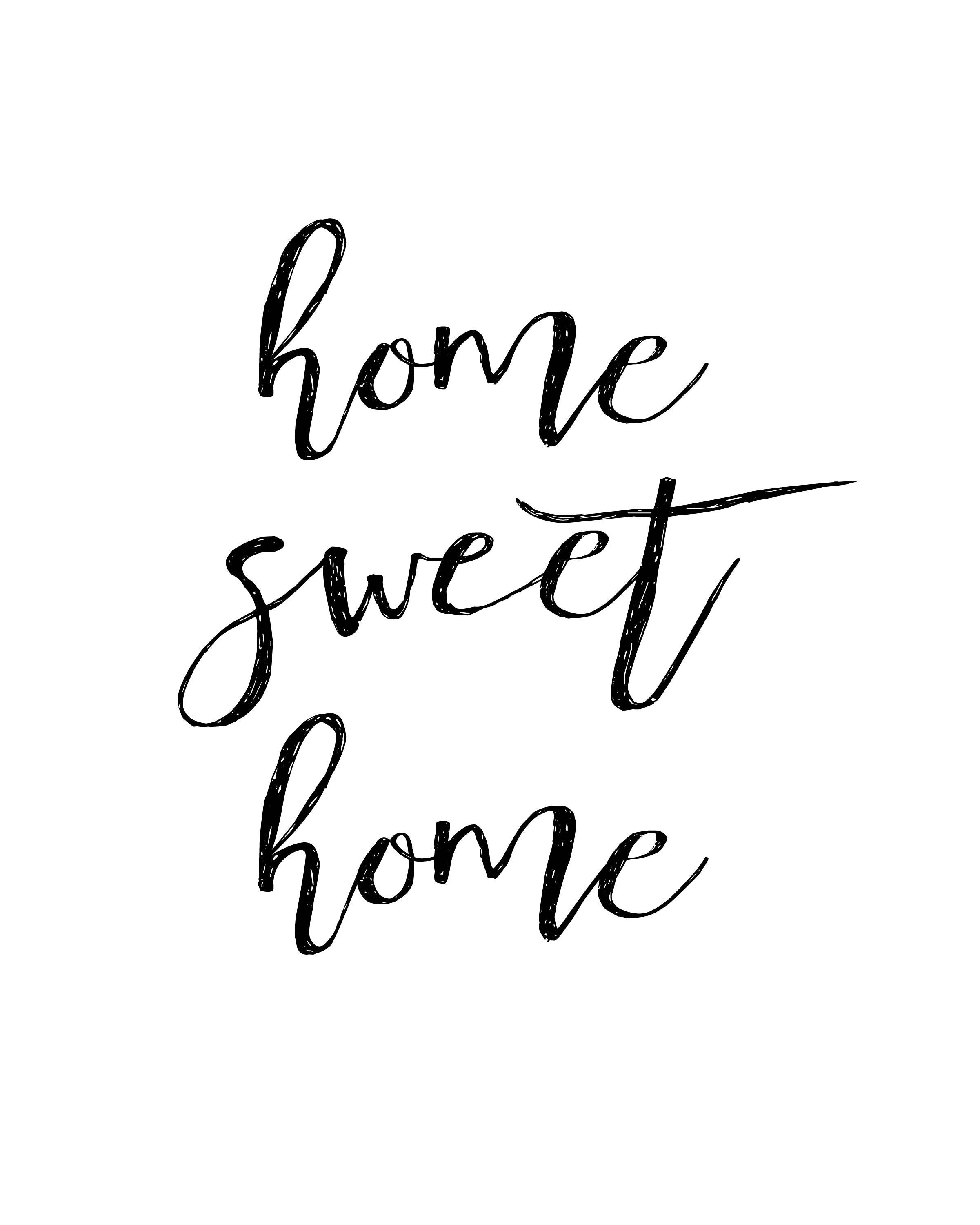 Free Home Printable Decor Home Sweet Home Little Blonde Mom