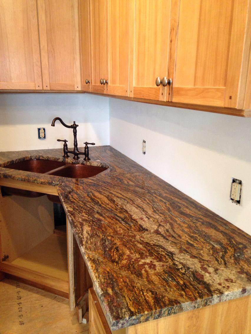 Gold Granite Countertops : Progress cinderella gold granite kitchen ideas