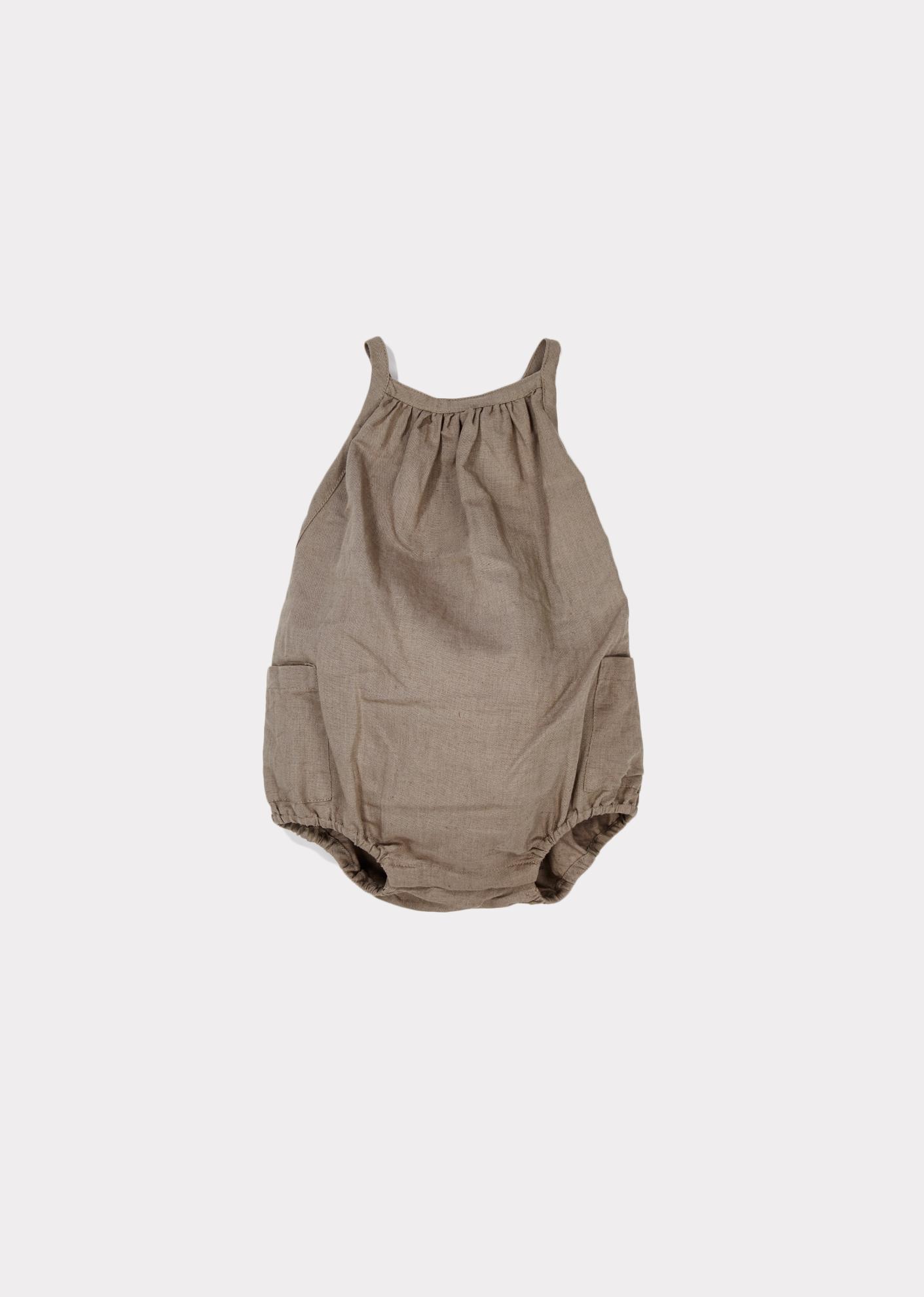 c457a4af8 Azalea Baby Romper, Stone Grey | Baby clothes | Designer baby ...