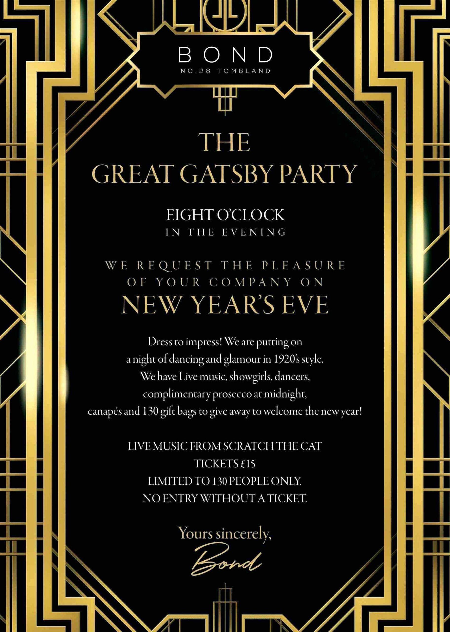 5s Invitation Template Free  Great gatsby invitation, Gatsby