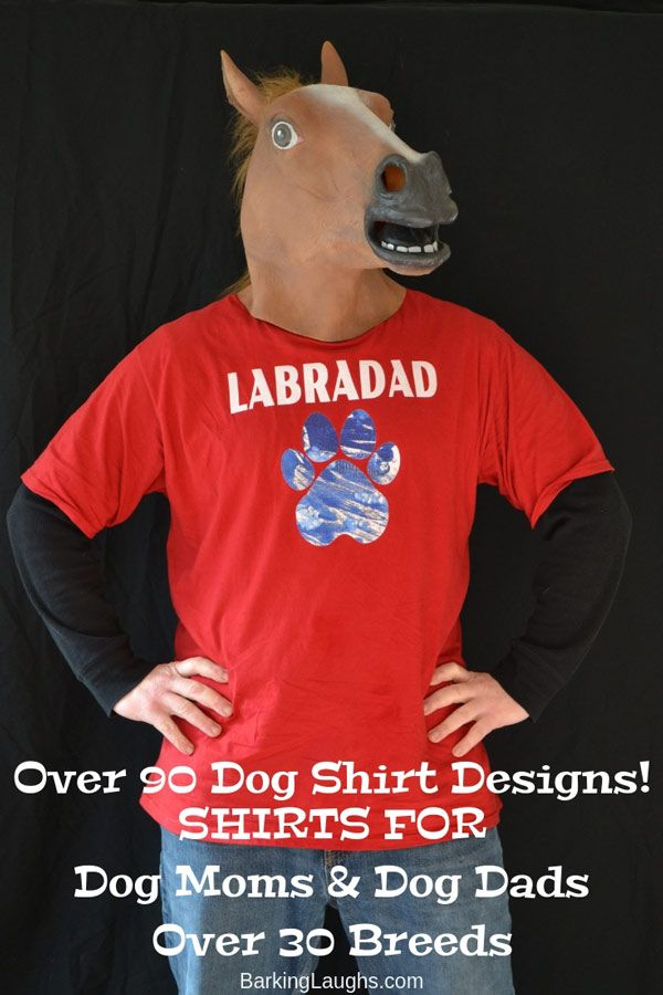 bf5ccba07 ... great dog lover gifts. Horse Model rocking the Labradad T-Shirt for  Barking Laughs. #doglovers #dogmoms #dogdads #shirts #gifts