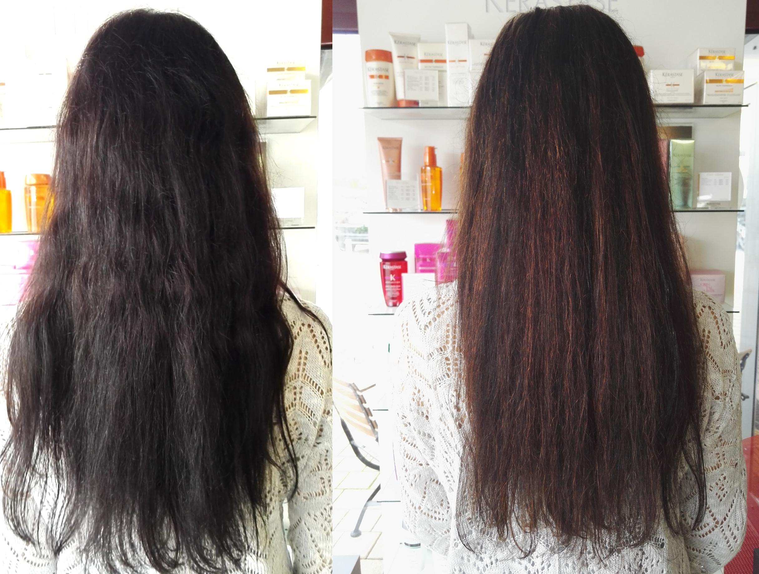 Getönte aufhellen dunkel haare Gefärbte Haare