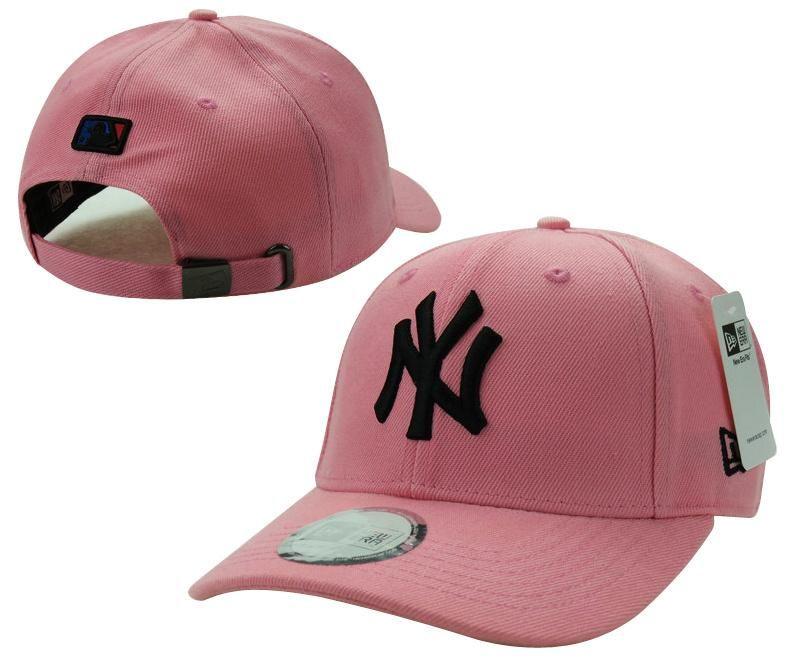Mens   Womens New York Yankees New Era Solid 6 Panel Strap Back Baseball  Adjustable Polo Cap - Pink   Black f78ef17b7dc