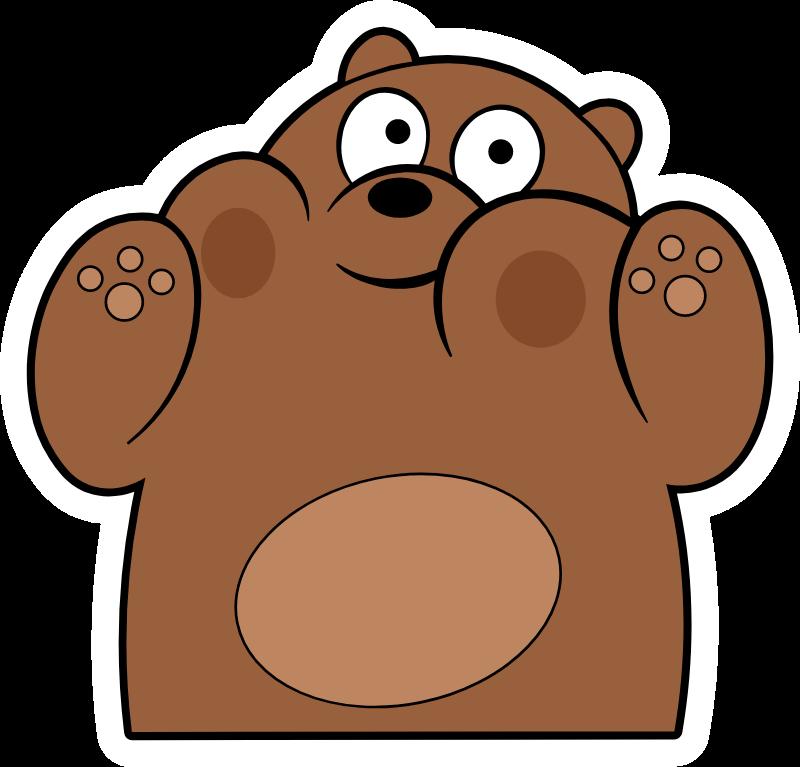 We Bare Bears Grizz Very Closely Sticker Sketsa Hewan Ilustrasi Karakter Boneka Hewan