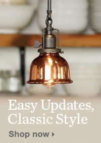 Easy Updates Classic Style Glass Pendant Light Hanging Pendant
