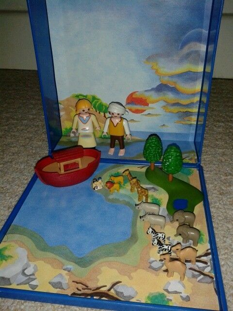 RARE Playmobil - COMPLETE Noah's Ark - Micro / Mini Play Set - 4332 - USED & VGC