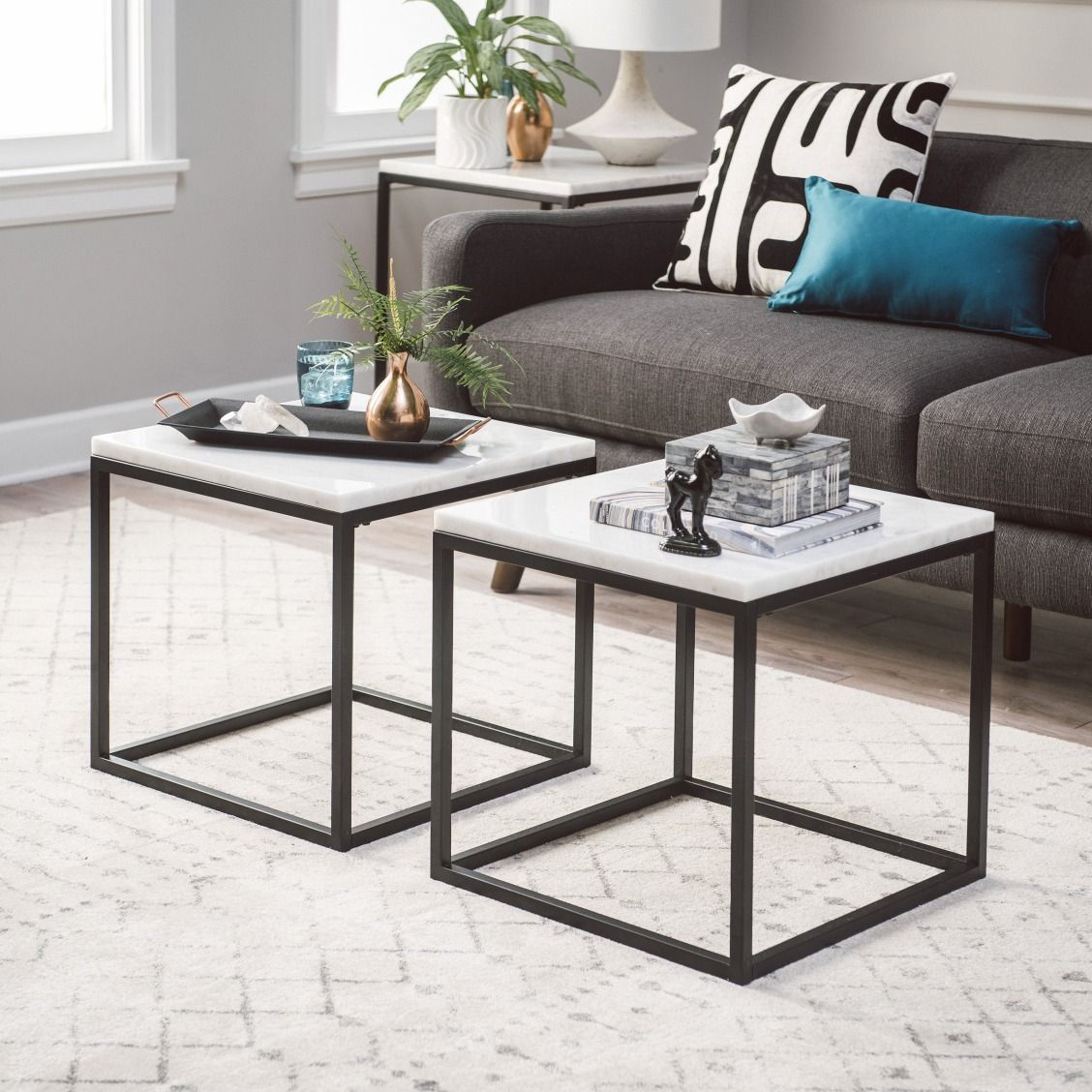 Belham Living Sorenson Bunching Coffee Table With Marble Top