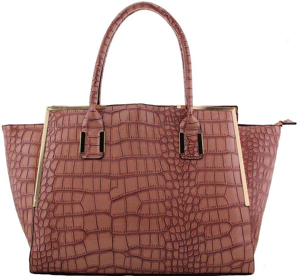 Croc Hold All Handbag Over The Shoulder Strap Carry