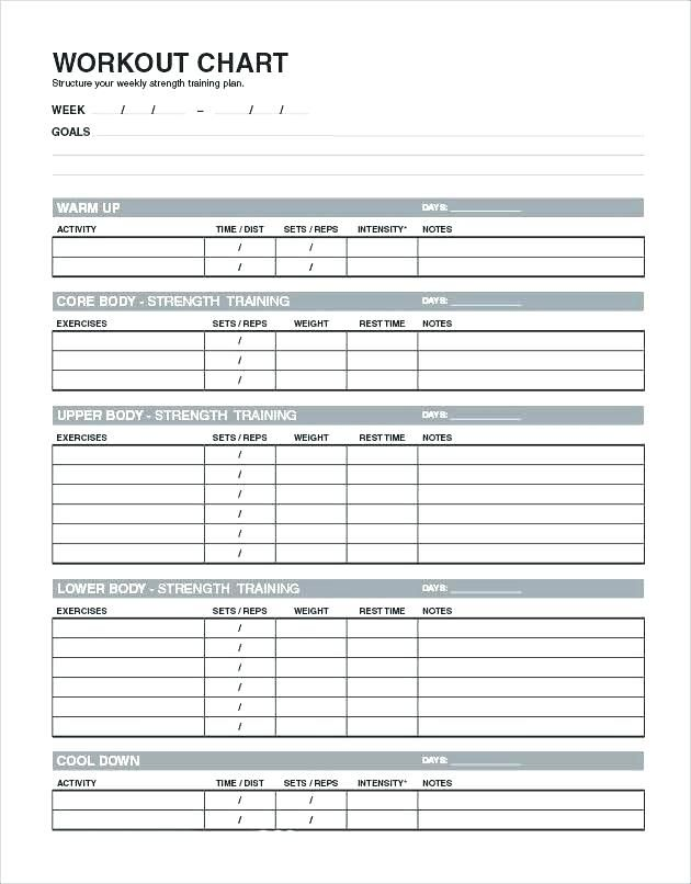 Workout Spreadsheet Template from i.pinimg.com
