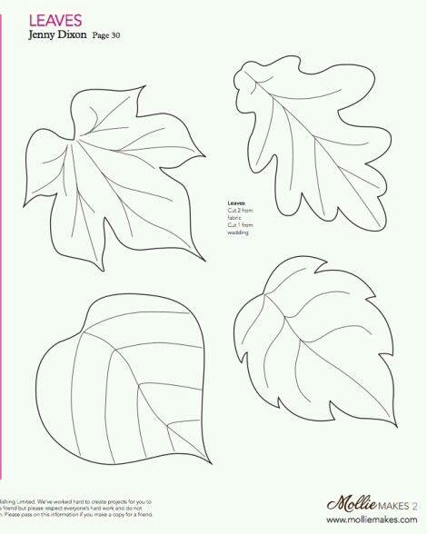 Yaprak Yaprak Aplike Sablonlari Aplike Desenleri