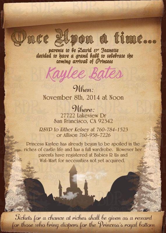 Fairytale Baby Shower Invitation