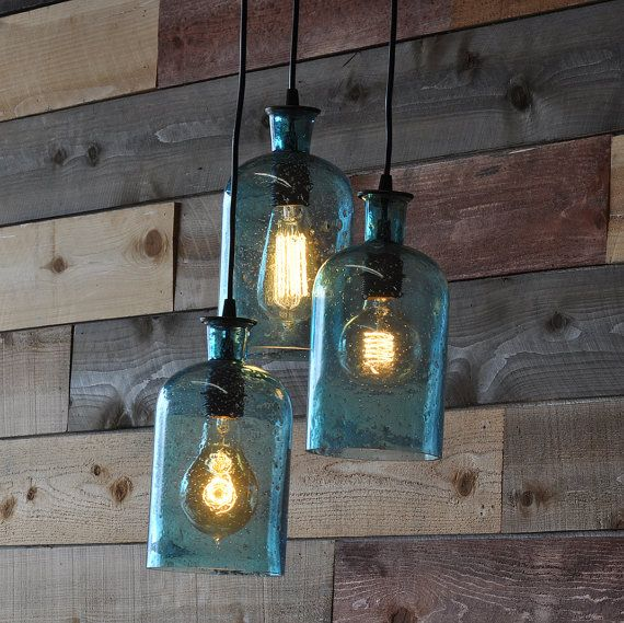 Custom for rita claremont california recycled bottles and bottle items similar to beach blue recycled bottle hanging lamp chandelier on etsy aloadofball Choice Image
