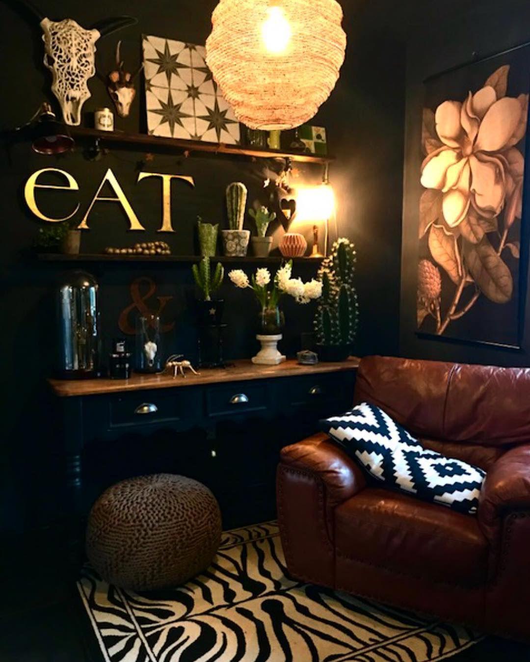 thuis woonkamer woonkamerdesign woonkamer decor donkere interieurs boho inrichting interieurontwerp voor