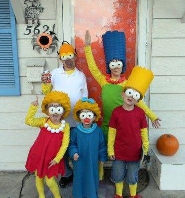 Disfraces Para Familias Gracioso Halloween Decorations - Disfraces-simpsons