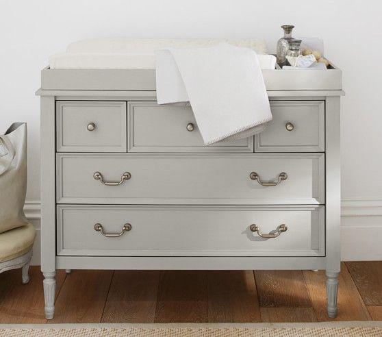 Blythe Nursery Dresser And Topper Set French Gray