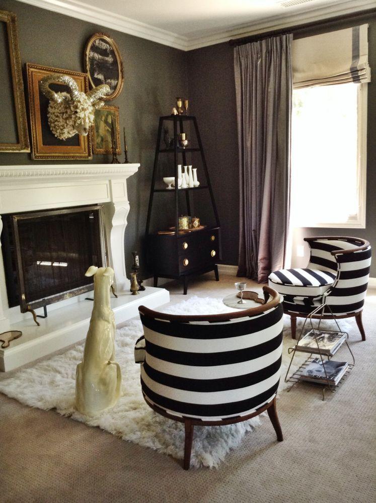 Striped chairs home living pinterest for Innenarchitektur esszimmer