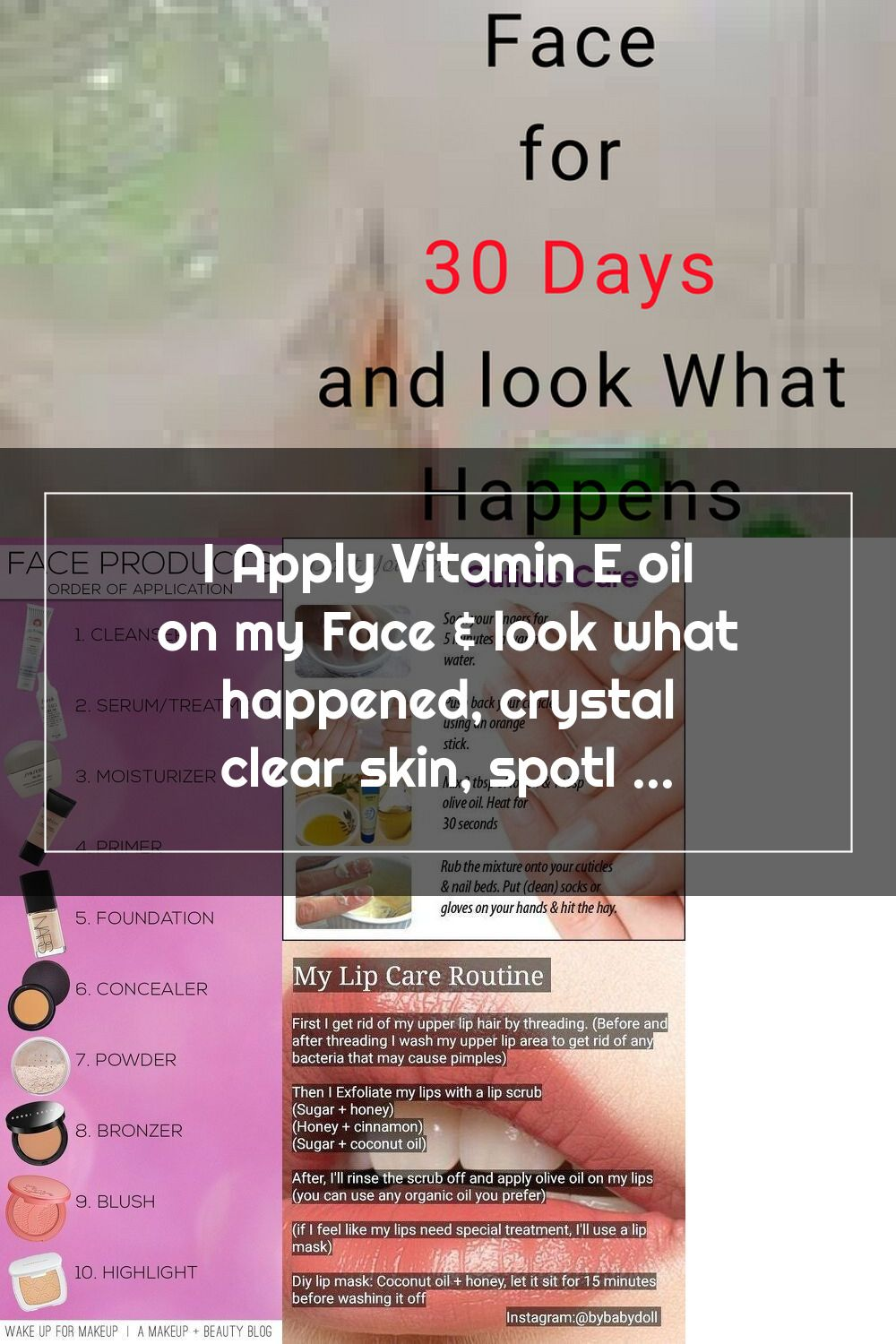 How to use vitamin E oil to make your skin crystal clear