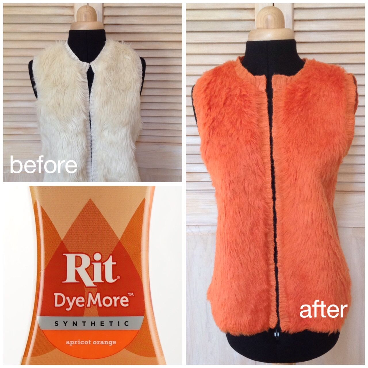 How to dye a faux fur vest with rit dyemore ritdye curtains created with rit dye on the rit studio nvjuhfo Images