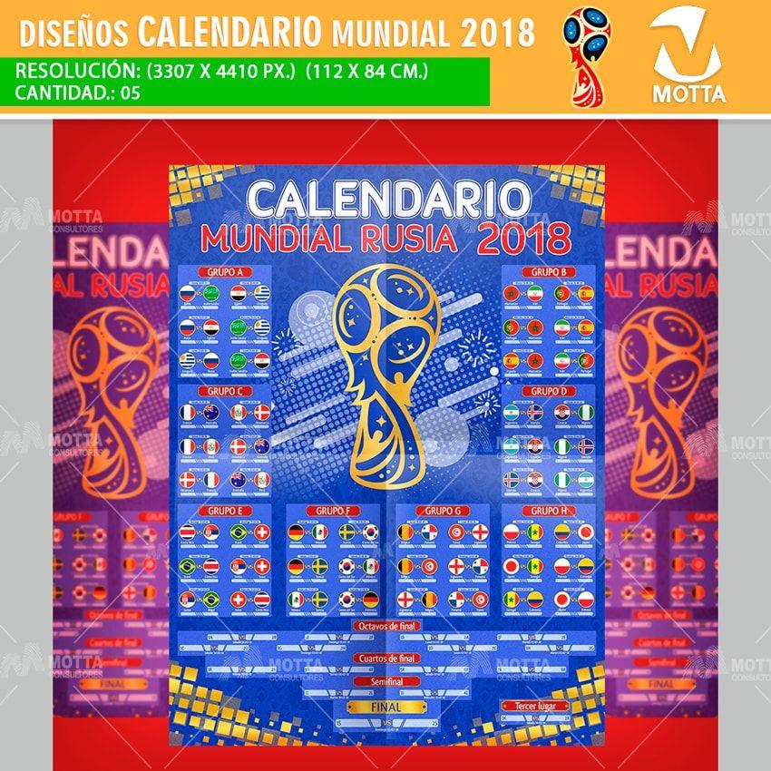 Calendario Mundial Rusia 2018.Calendario Mundial Rusia 2018 Para Imprimir Y Registrar