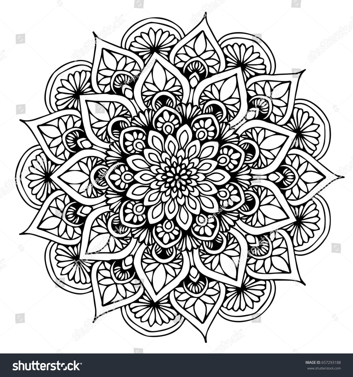 Mandalas For Coloring Book Decorative Round Ornaments Unusual Flower Shape Oriental Vector Mandala Tattoo Design Mandala Design Art Mandala Coloring Pages