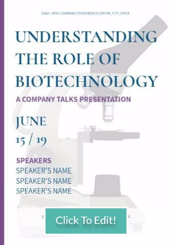 A4 portrait poster template example edit format A4 biotechnology