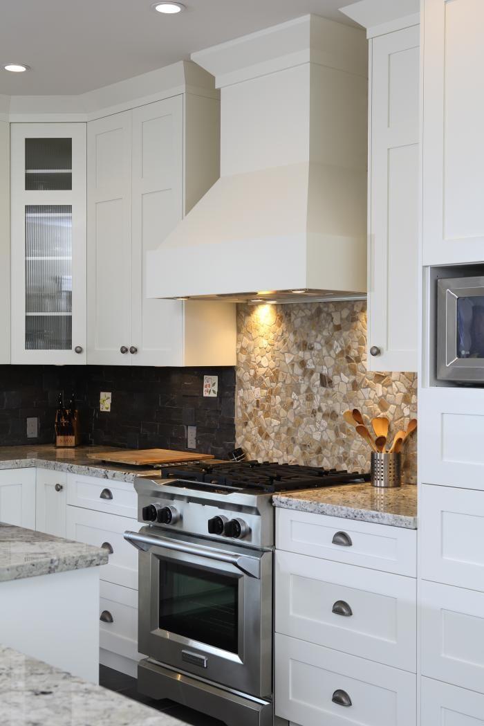 Stove Top And Backsplash Detail In North Vancouver Luxury Custom Home Custom Built Homes Custom Homes Home