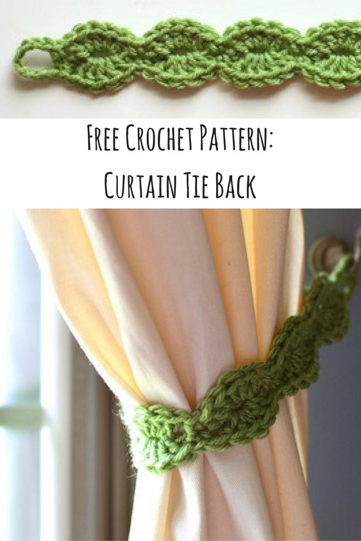 Free Crochet Pattern Curtain Tie Back Diy Crochet Curtains