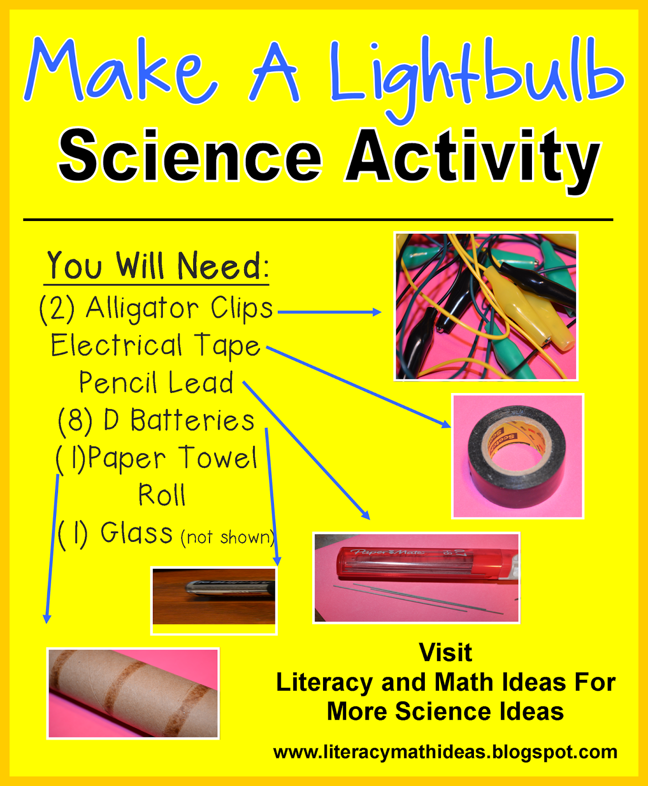 Free Science Activity Make A Lightbulb