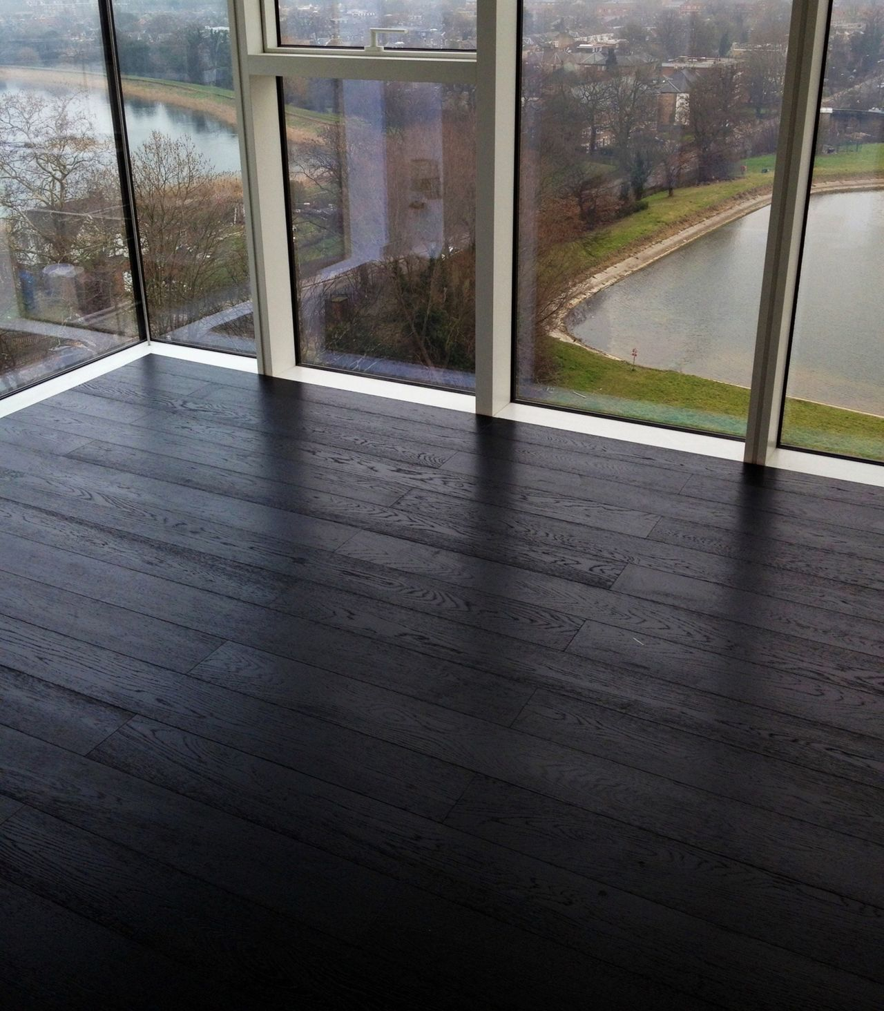 Dark Stained Oak Floors: Accesories & Decors,Modern Open Views Sunroom Ideas With