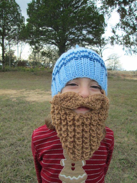 92b41d02638 Toddler childrens long beard hat beard hats by Ritaknitsall