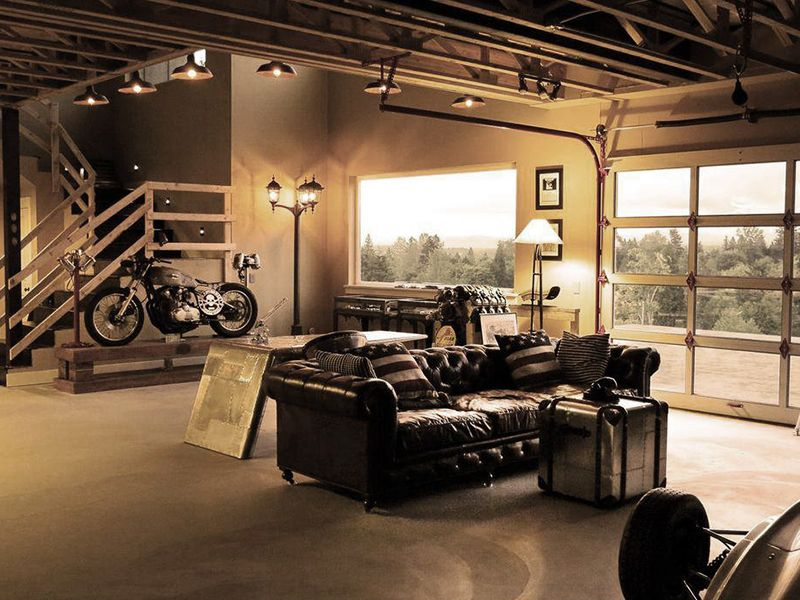 Motorcycle Garages Should Be Man Caves Purpose Men Cave