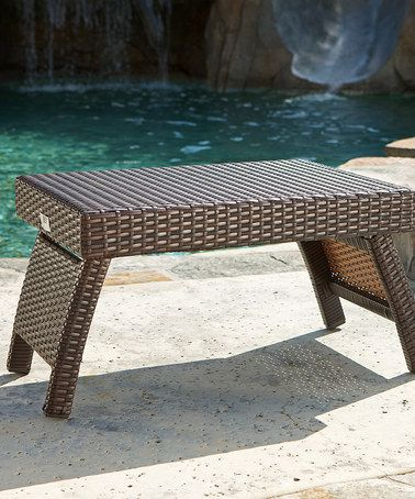 Take A Look At This Lounger Side Table By Rst Outdoor On Zulily Today Wicker Patio Furniture Sets Wicker Patio Furniture Cheap Patio Furniture