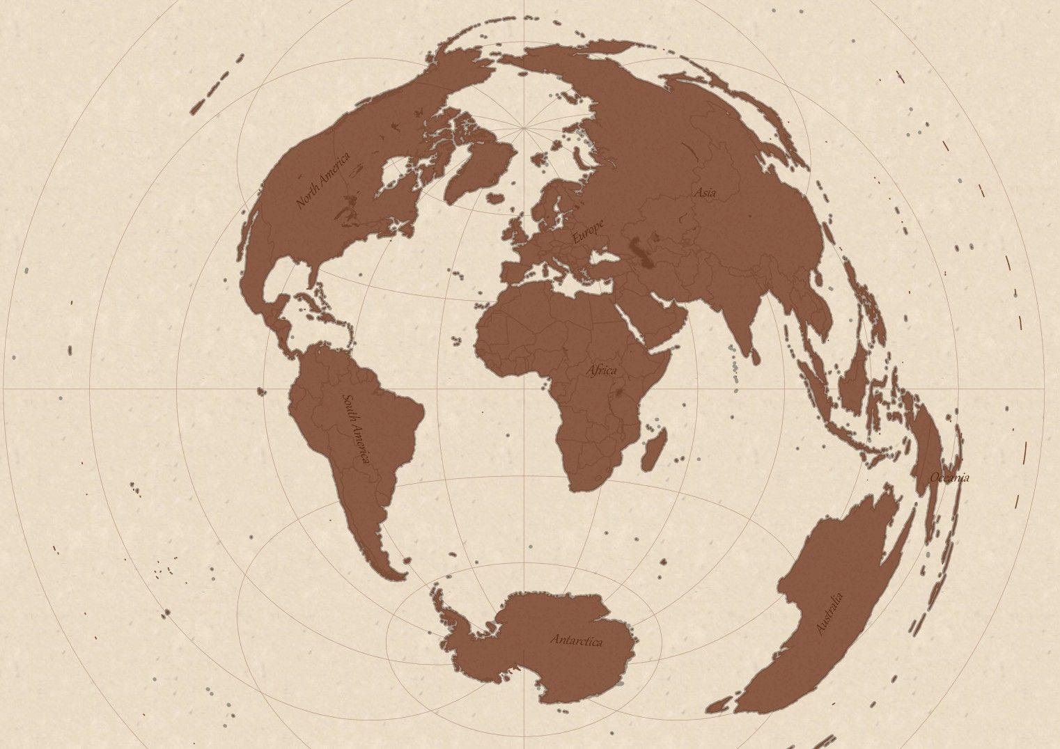 خريطة عتيقة للعالم Vintage Map Cartography Vintage