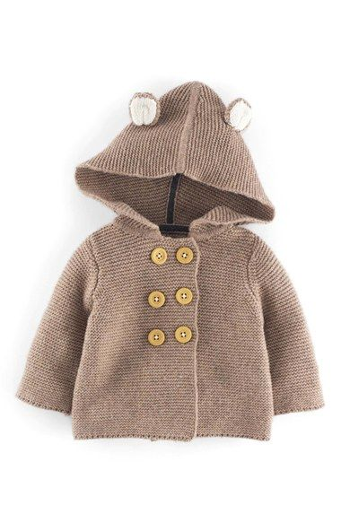 8146d7b6f Free shipping and returns on Mini Boden Hooded Knit Jacket (Baby ...