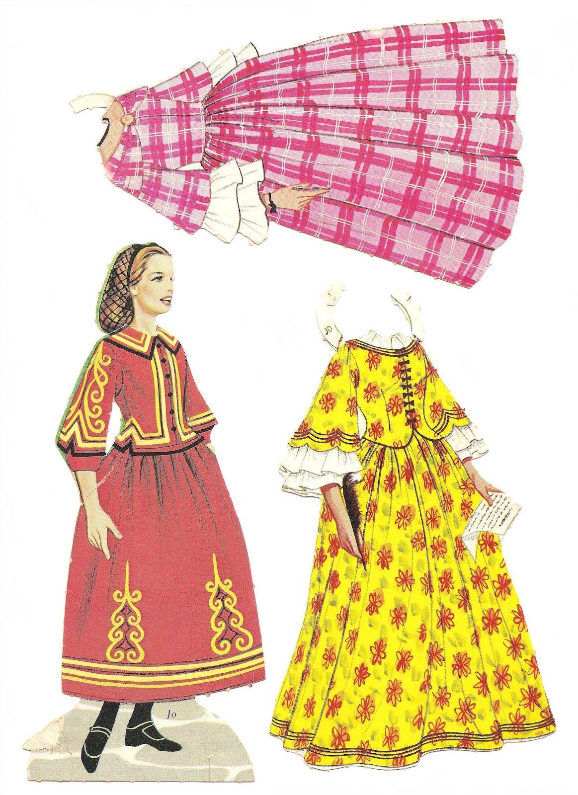 Little Women Paper Dolls Late S Or Early S Meg