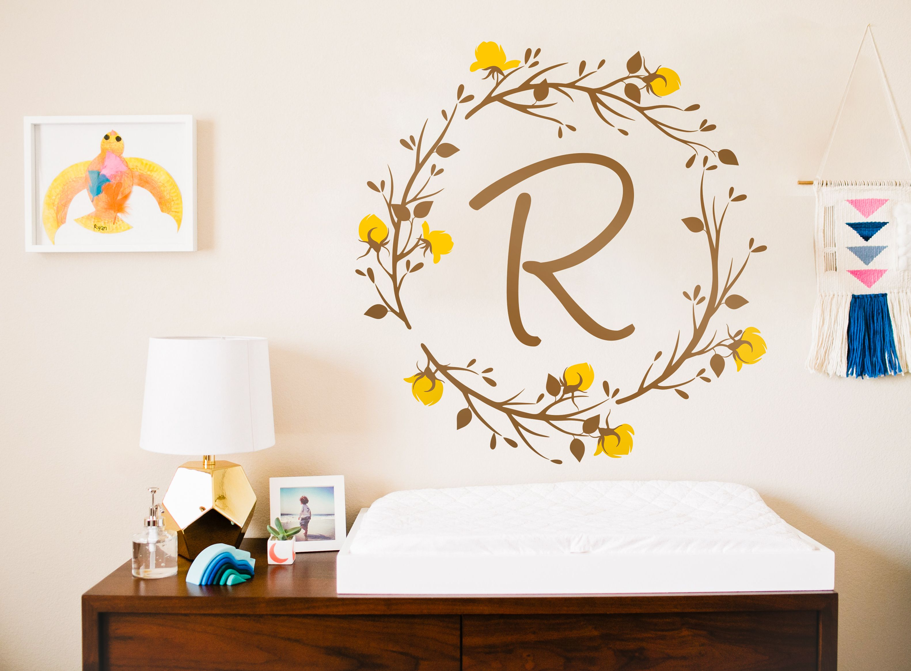 Name Nursery Wall Decal Custom Monogram Wall Decals Personalized - Custom vinyl wall decals nursery