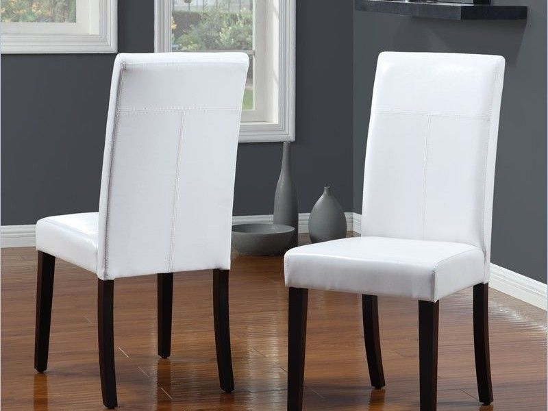 White Leather Dining Chairs White Leather Dining Room Chairs