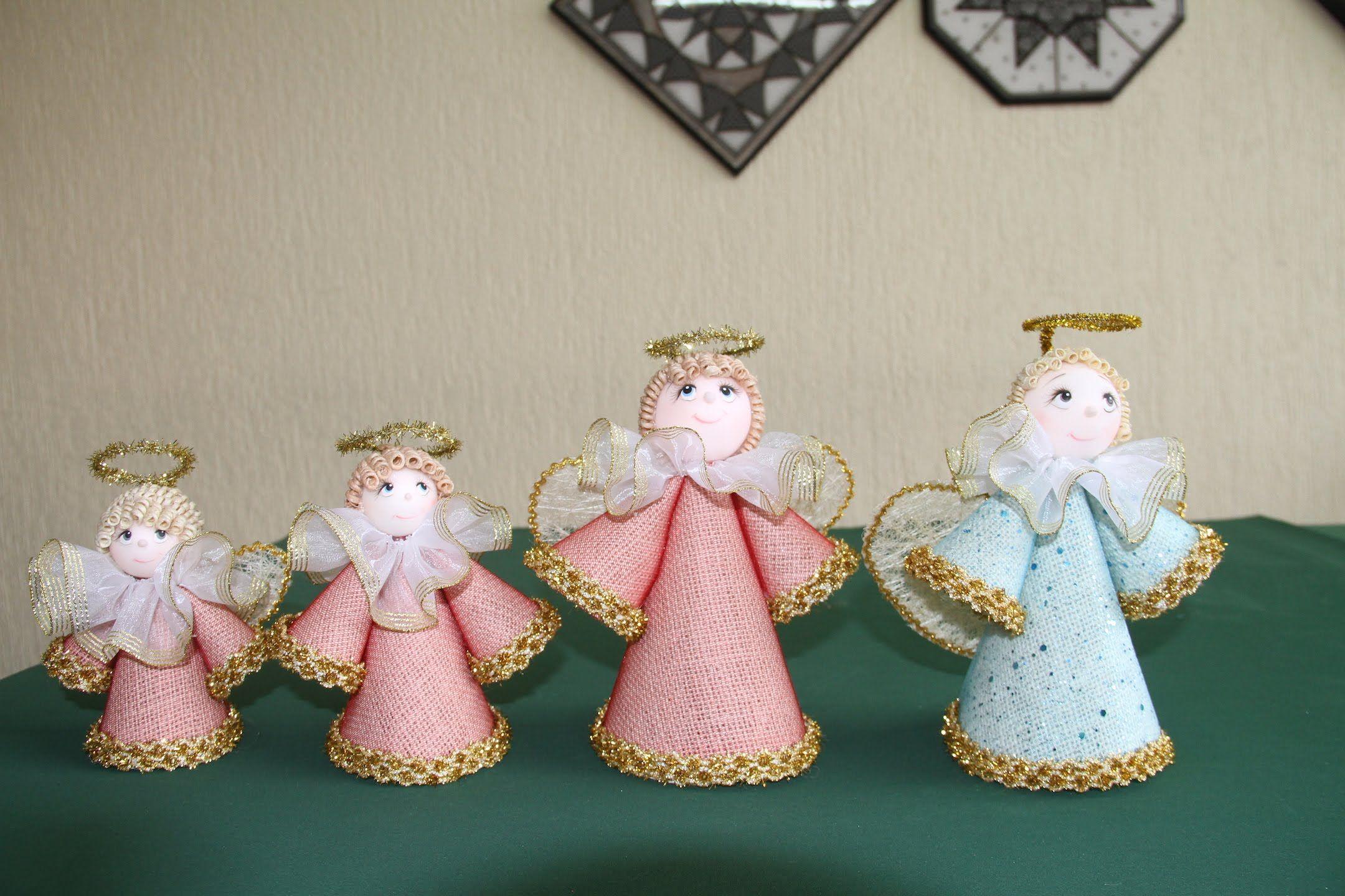 C mo hacer unos ngeles decorativos navidad pinterest - Decorativos de navidad ...