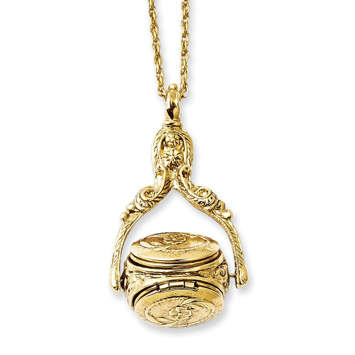 Goldtone locket in necklace bf products