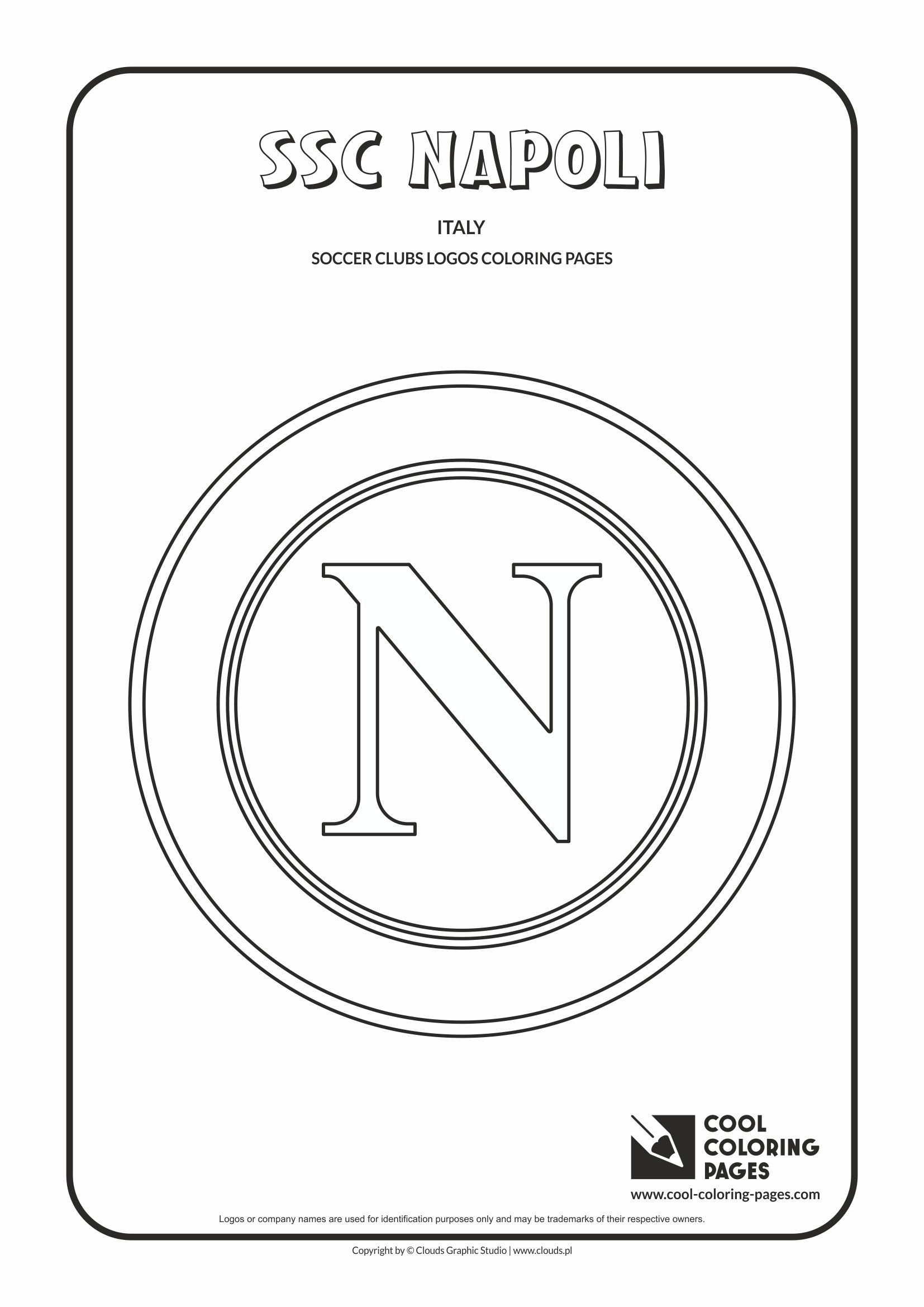 S S C Napoli Logo Coloring Coloring Page With S S C Napoli Logo Napoli Logo Colouring Page Cool Coloring Pages Coloring Pages Soccer Club