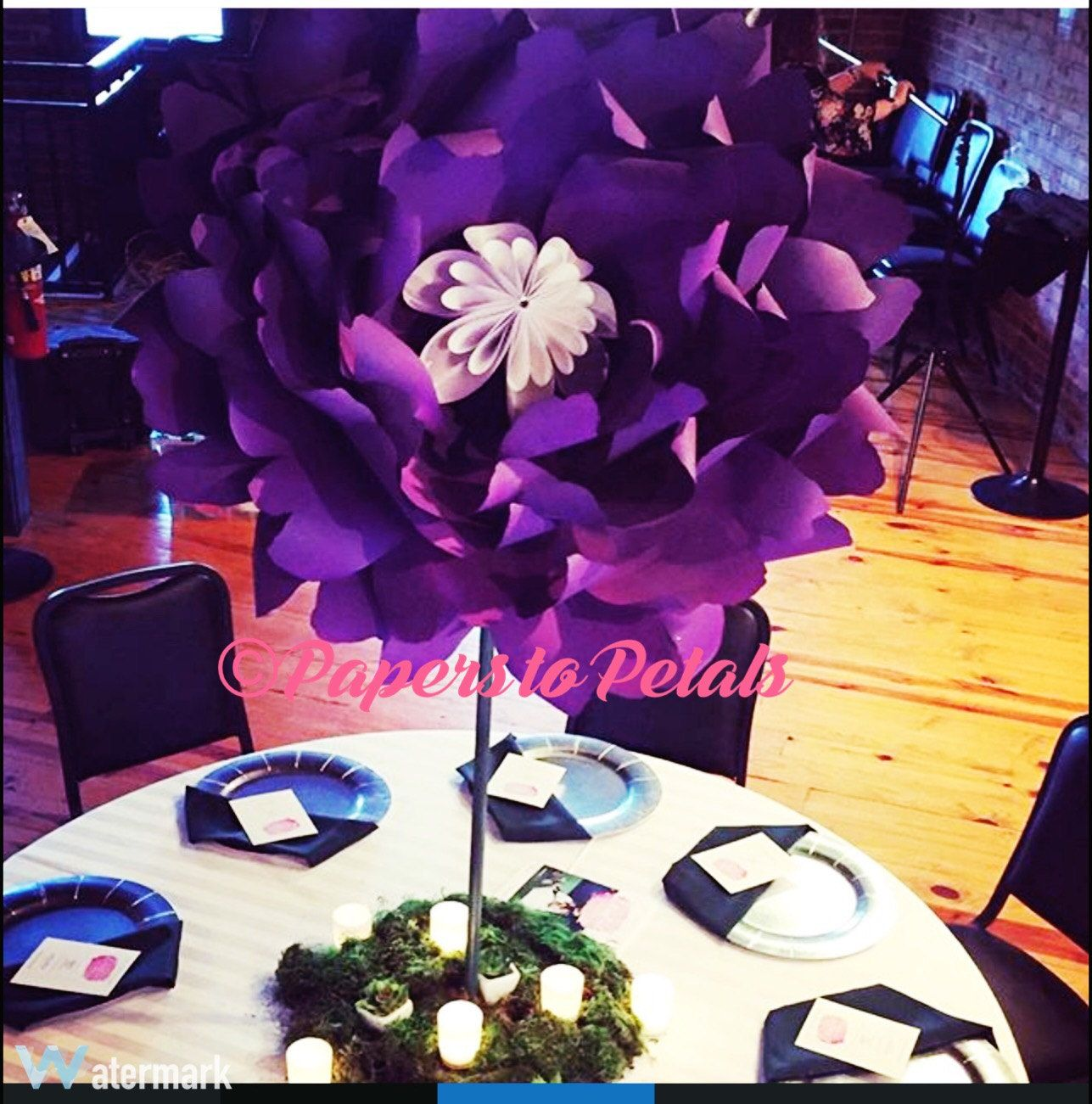 Paper Flower Centerpieces 36 Inch Inch Paper Flowers On Stems
