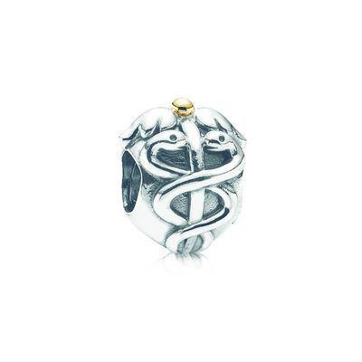 0c2f7c37e Life Saver Medical Emblem Charm - Sterling Silver with 14K Gold - PANDORA -  791042