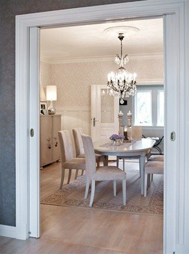 Love separating dining room and living room pocket door - Doors to separate kitchen from living room ...