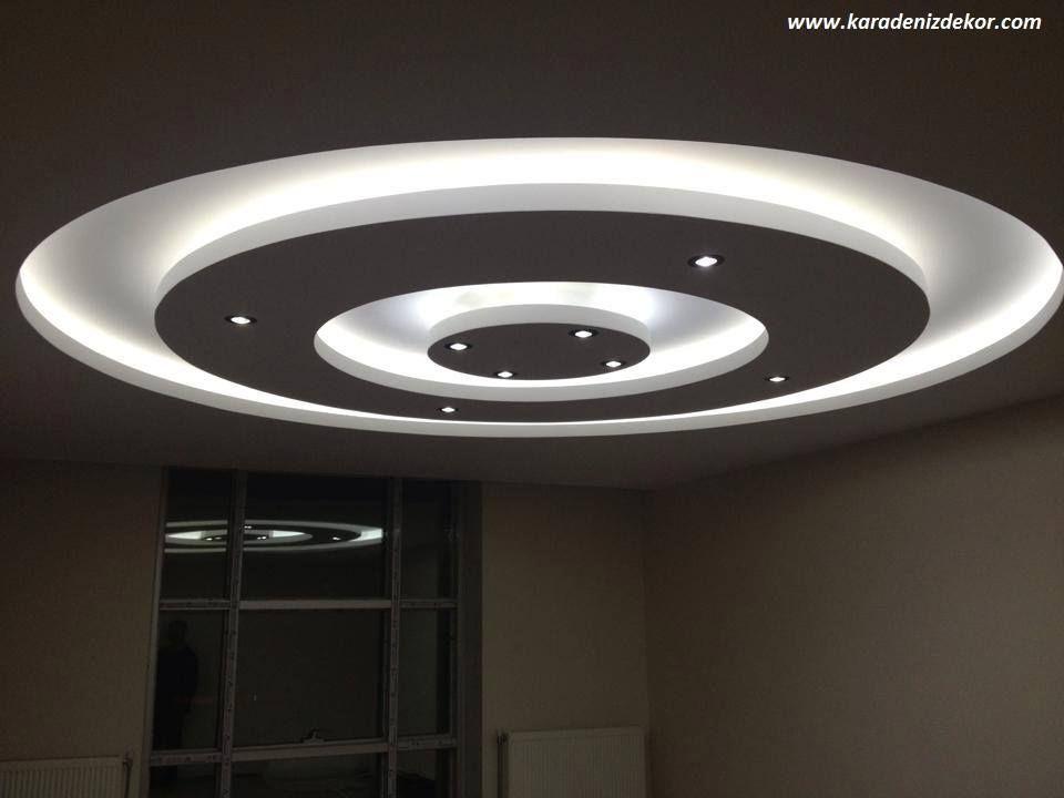 gypsum false ceiling designs for living room | alçı sanat ...