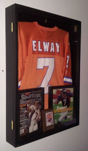 Jersey Display Case Jersey Display Frame Jersey Shadow Box Deep With Hinged  Door Black GameDay Display